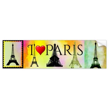 Eiffel Tower Bumpersticker Bumper Sticker