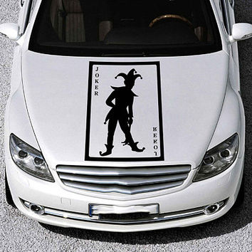 joker car hood decal joker Auto side sticker joker Vinyl Design Racing Truck Van kikcar95