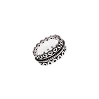 Taslan Embroidered Sterling Silver Spin Ring
