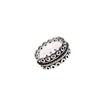 Taslan Embroidered Sterling Silver Spinner Ring