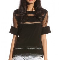 Tops > SHEER DELIGHT TOP