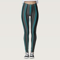 Black all color strips legging by virtueoffashion