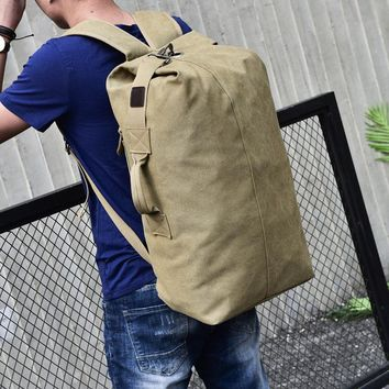 Big Travel Bag Large Capacity Men Hand Luggage Packs Canvas Out Purse Weekend Duffle Shoulder Backpack Khaki Black Off -road