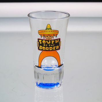 South Of The Border Shot Glass Mexican Moonshine Tequila Shooter Glass