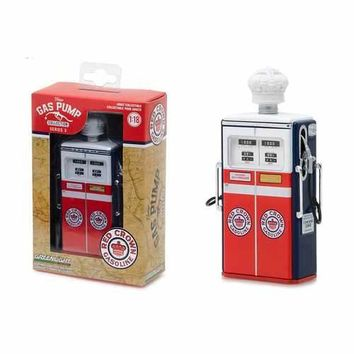 1954 Tokheim 350 Twin Gas Red Crown Gasoline Gas Pump Replica Vintage Gas Pump Series 3 1/18 Diecast Model by Greenlight