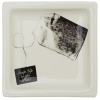 Fishs Eddy White Steep Up to the Plate Teabag Tray | Kitchen and Dining | Liberty.co.uk