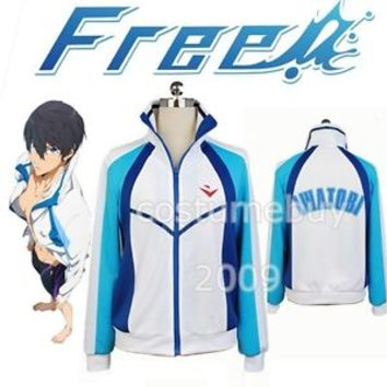 Free Eternal Summer Iwatobi Swim Club Haruka Nanase Sport Jacket Cosplay Costume