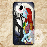 Love The Nightmare Before Christmas Jack and Sally Kiss iPhone 4/4S, 5/5S, 5C Series, Samsung Galaxy S3, Samsung Galaxy S4, Samsung Galaxy S5 - Hard Plastic, Rubber Case
