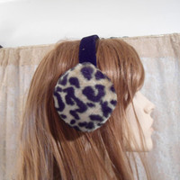 Womens Vintage Animal Print Earmuffs Leopard Print Cheetah Print Ear Muffs  Womens Accessories