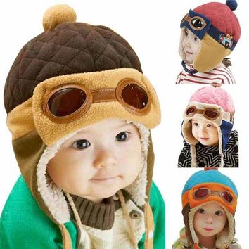 115fa3d445a1 10 to 48 Months Baby Winter Hat 4 Colors Toddlers Cool Baby Boy