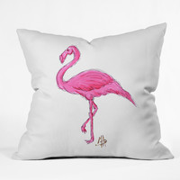 Madart Inc. Pinkest Flamingo Throw Pillow