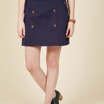 Down to Business Trench Skirt
