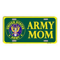 Smart Blonde United States Army Mom Novelty Vanity Metal License Plate Tag Sign