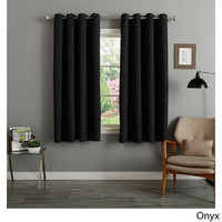 Aurora Home Grommet Top Thermal Insulated Blackout 64-inch Curtain Panel Pair | Overstock.com Shopping - The Best Deals on Curtains
