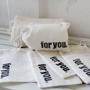 $18.00 Favor Bags  for you Set of 12  3 x 5 by quotesandnotes on Etsy