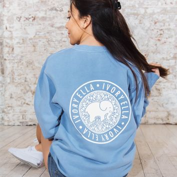 Light Blue Crew Neck Sweatshirt
