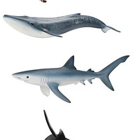 Schleich World of Nature Ocean Creature Set #2 with 4 Toy Figurines