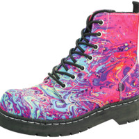 Paint Splatter Combat Boot
