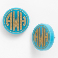 Women's Moon and Lola 'Chelsea' Medium Personalized Monogram Stud Earrings (Nordstrom Exclusive)
