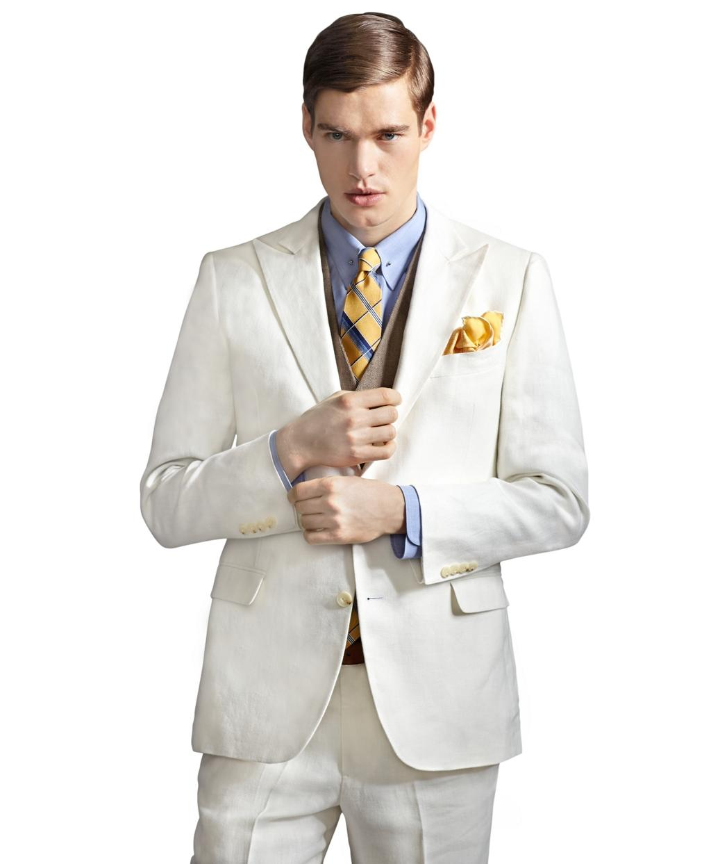 The Great Gatsby Collection Ivory Linen From Brooks Brothers