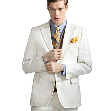 The Great Gatsby Collection Ivory Linen Jacket - Brooks Brothers