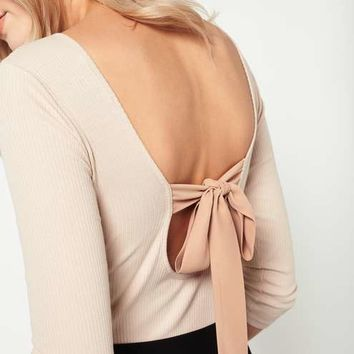 Beige Tie Back Body