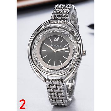 """Swarovski"" Fashionable Ladies Chic Diamond Movement Watch Wristwatch"