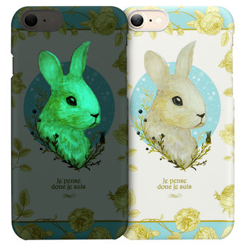 "ESR Luminous illustration Printed Shining Case Cute Cartoon Hard Back cover Case for 4.7"" iPhone 7"