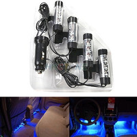 4x 3LED Car Charge 12V Glow Interior Decorative 4in1 Atmosphere Light Lamp Blue = 1651621316