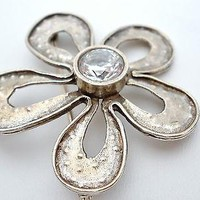 LLC Sterling Silver Flower Brooch Pendant Lisa Lee Creations Pin
