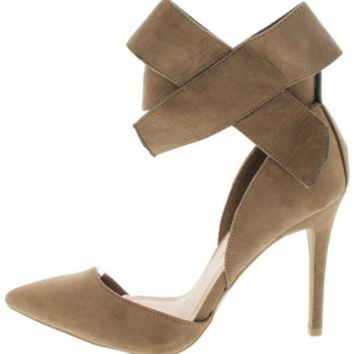 Taupe Bow Heel