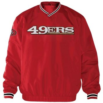 San Francisco 49ers Stop and Go Cross Over Crew – Scarlet