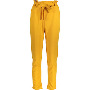 Mustard Yellow Tie Up Trousers - Women's Mod Box - Edits - TK Maxx