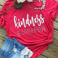 Kindness Is Contagious Short Sleeves Tee