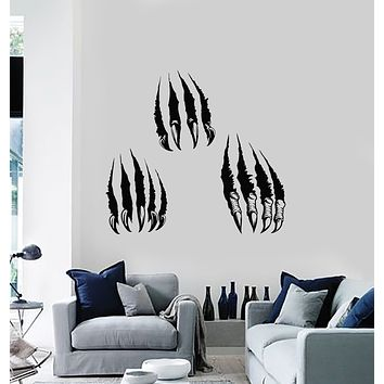 Vinyl Wall Decal Monster's Paw Claws Predator Animal Horror Stickers Mural (g833)