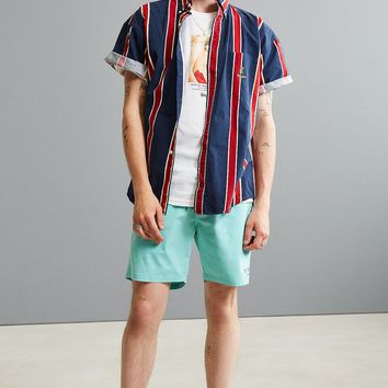 Vintage '90s Vertical Stripe Short Sleeve Button-Down Shirt | Urban Outfitters