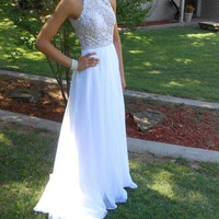 O-Neck Prom Dresses,A-Line Prom Dresses,Long Evening Dress