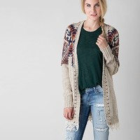 Gimmicks Open Weave Cardigan Sweater