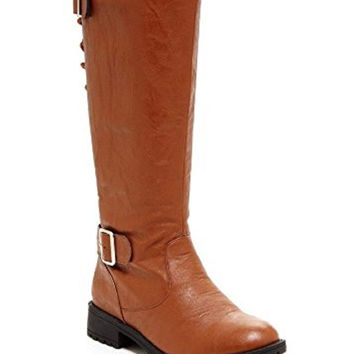 Carrini CA Collection Women's Fashion Back Lace-Up Boots, Cognac, 9