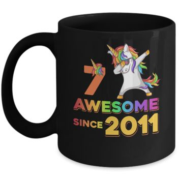 Unicorn Dabbing Awesome Since 2011 7Th Birthday Mug