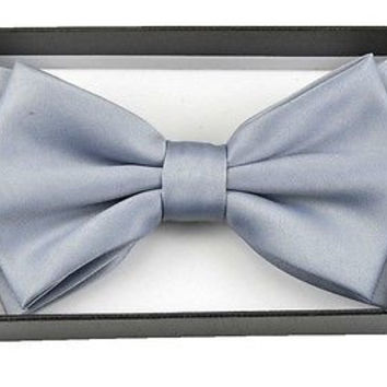 UNISEX ADULT KID LIGHT GRAY TUXEDO ADJUSTABLE  BOW TIE BOWTIE!BLUE GRAY BOW TIE