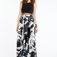 Illusion Two-Piece Printed Dress