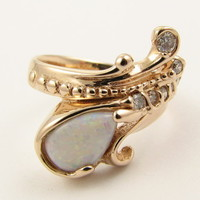 Wexford Jewelers   our passion is design >> Mermaid's Ring in Opal & Diamond
