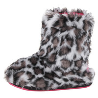 M&F Western Furry Boot Slippers (Toddler/Little Kid/Big Kid) Grey Leopard - Zappos.com Free Shipping BOTH Ways