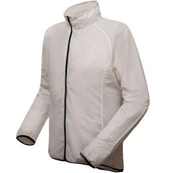 Breathable material white cycling jacket men's women's universal sport clothes running jacket