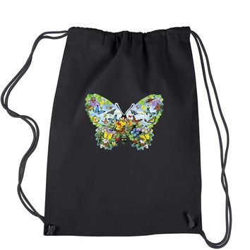 Butterflies Drawstring Backpack