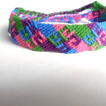 Colorful Handmade Aztec Friendship Bracelet