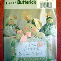 Butterick Crafts 4415 Bunny Pillows Patterns 3 Designs Luv N Stuff Sewing Pattern