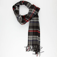 Plaid Scarf Grey One Size For Men 25164211501