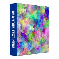 Abstract Patches of Color 3 Ring Binder from Zazzle.com